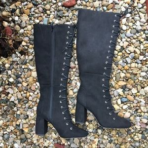 BCBG generation lace up tall boots